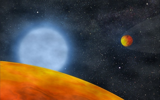 Two hot rocks and their flaky white dwarf